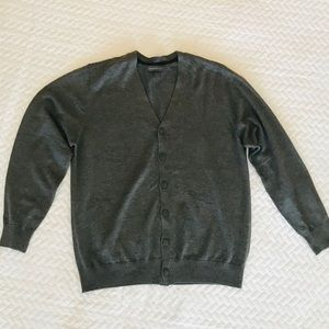 Other - Men's Gray 6 Button Cardigan